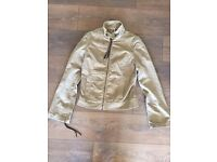 Light brown cordroy DKNY ladies designer jacket size s