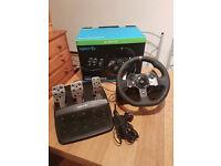 Logitech G920 X Box wheel and pedals