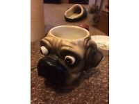 Comical pug/boxer mug
