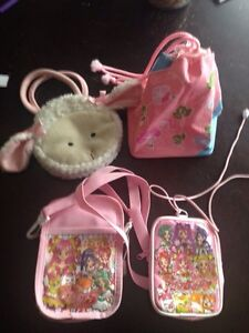 4 girly pouches and hand bags
