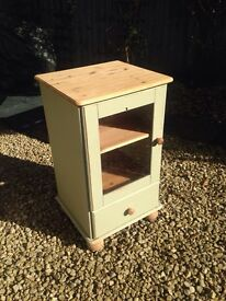 Scabby chic wood display cabinet side unit