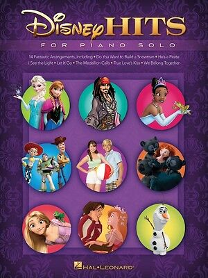 Disney Hits for Piano Solo Sheet Music Piano Solo SongBook NEW 000128219