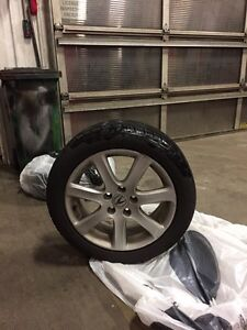 SET OF 4 LIKE NEW ALL SEASON TIRES AND RIMS
