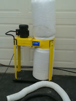 powerfist 600 cfm 1 HP dust collecter 15 gallon capacity $60.00