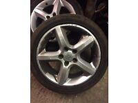 Astra h alloys wheels