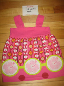 Pink Floral Children's Place Baby Doll Top - 24 mths