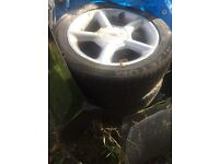Ford Mondeo Escort Cosworth Style 5 Spoke alloy wheels rare gti 16 inch with tyres