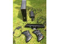 Xbox 360 250gb + Kinect + 2 wireless controllers