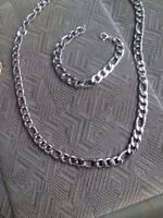 12mm wide stainless steel chain set