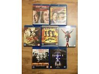 Blu ray job lot of 7 films. 300, Super 8, Superbad, Michael Jackson & more.