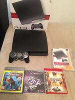 Playsyation 3 in BOX + 1 controller + 35 Games/Jeux