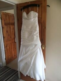 Wedding Dress Maggie Sottero Satin Ivory Size 10