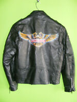 Leather Jacket - Harley Airbrushed - Small at RE-GEAR
