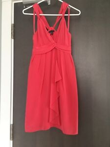Dress (Coral silk) by Banana Republic