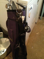 Women's left handed golf clubs, bag, shoes, gloves, balls