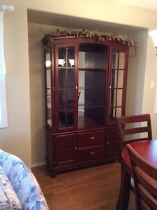 Beautiful China cabinet and dining table