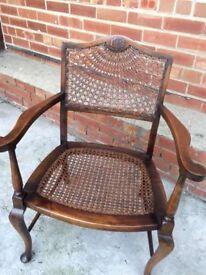 Vintage Bergere sunburst chair for sale