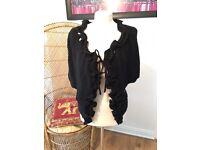 Women's black cardigan one size
