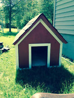 large hand made dog house, very heavy