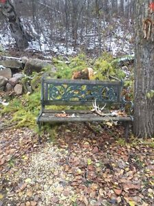 2 antique benches