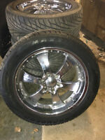305-45-22 In rims and good marauder Tires 6 bolt