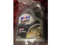 Brand new engine oil Mobil 2000 super 5L sealed only £20 for car