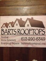 BARTS ROOFTOPS now booking roofing contracts for early November!