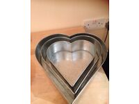 Cake tins heart shaped