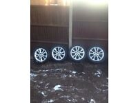 "Astra h / zafira b 17"" alloys with 225/45/17 tyres 07594145438"