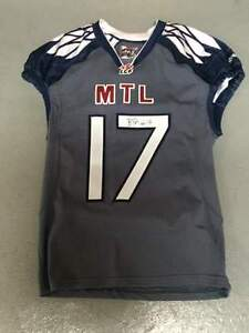 MONTREAL ALOUETTES GAME USED AND AUTOGRAPHED BILLY PARKER JERSEY