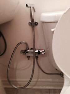 HAND-HELD MUSLIM SHOWER SPRAYERS BIDET KIT.SHATTAF- INSTALLATION