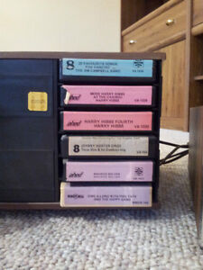 Stereo 8 Eight-Track Player with 35 Cassette Tape Cartridges Stratford Kitchener Area image 4