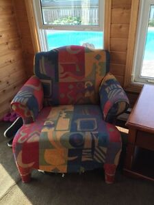 Set Of Three Multi-Coloured Chairs