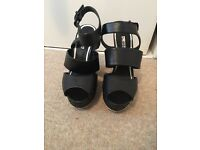 Size 6 Miss Selfridge wedge sandals