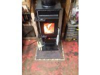 Wood burning stove log burner