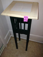small and tall side table