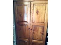 Wardrobe - Antique Pine - Solid Wood - Bedroom