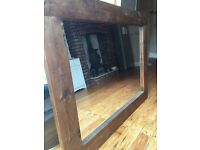 Large solid wood mirror