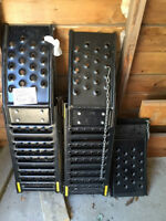 Portable steel ramps for truck.