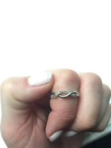Sterling silver with Dimond band