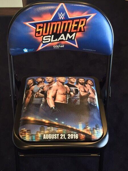 WWE Summerslam ringside chair - Brand New