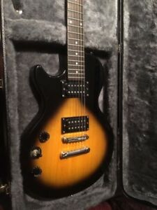 EPIPHONE LEFT-HANDED ELECTRIC GUITAR WITH CASE