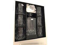 Royal Doulton decanter and six glasses set
