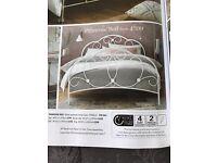 Next king size primrose metal bed frame £75