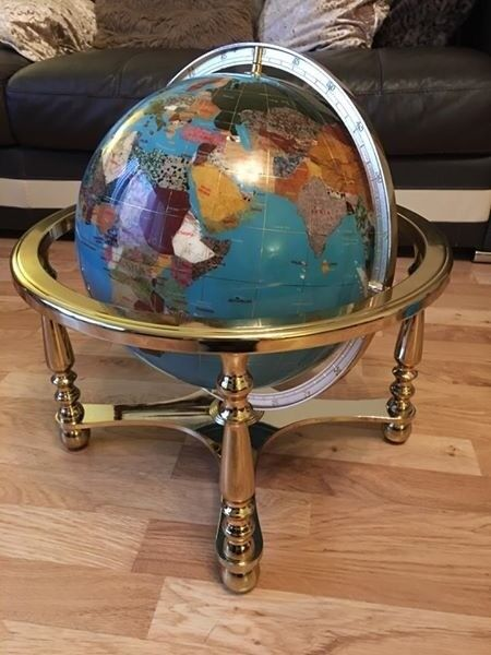Lapis Gemstone Globe 330mm