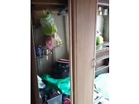 Wardrobe- double one solid wood/one full mirror