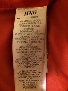 Mango wool coat medium West Island Greater Montréal image 3