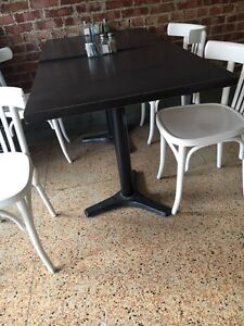 Restaurant Tables and Chairs for sale and lights