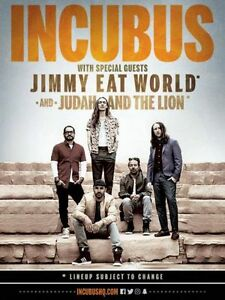Incubus & Jimmy Eat World - Sat Jul 22 - Floor General Admission