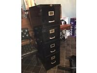 VINTAGE INDUSTRIAL ART METAL FILING CABINET